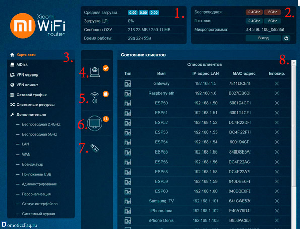 Xiaomi Padavan router главное меню