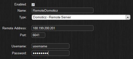 удаленный сервер Domoticz