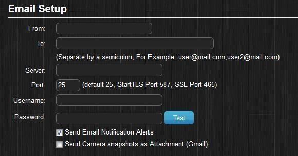 Domoticz настройка электронной почты