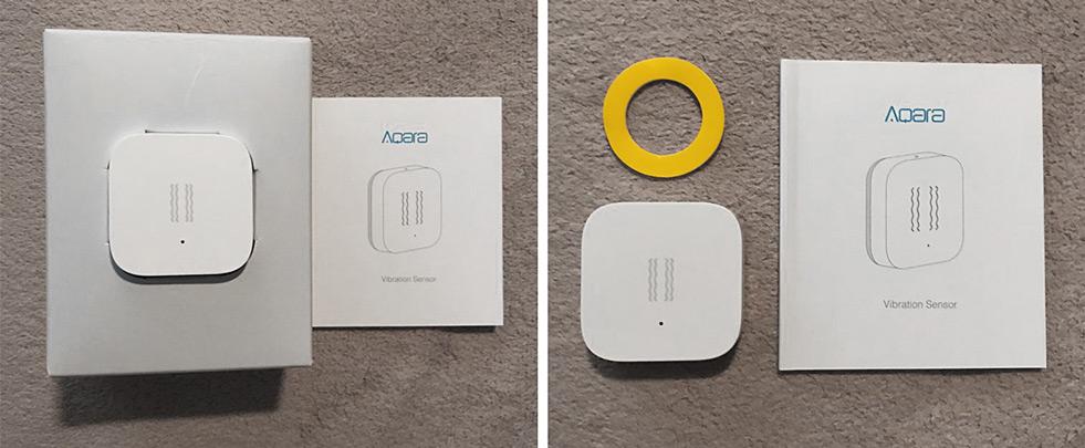 Xiaomi Aqara Vibration Sensor внешний вид и комплектность